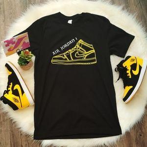 Nike Jordan 1 shoe AJ1 Custom Shirts Adult Sizes